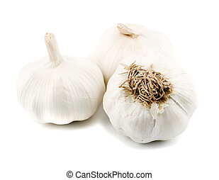 garlic close-up concepts isolated on white background