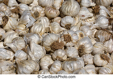 Garlic - Close up of garlic on market