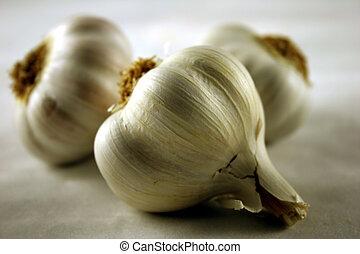 Close-up of whole garlic
