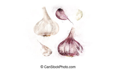 Garlic drawing animation - The Garlic pattern appears with...