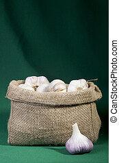 Garlic in a bag