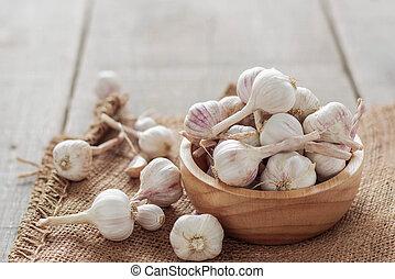 Garlic in a bowl.