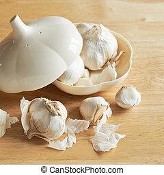 Garlic in a garlic shaped box