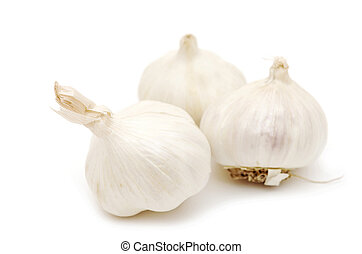 Garlic isolated on white background.