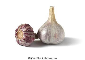garlic isolated on white