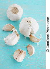 garlic on a board