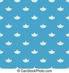 Garlic pattern vector seamless blue repeat for any use
