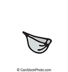 garlic vector icon isolated on white background