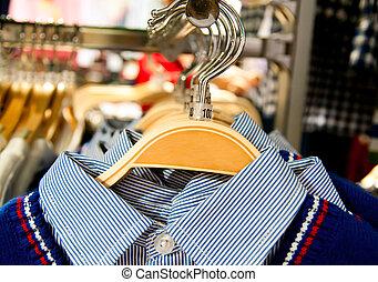 garment, cabides, penduradas