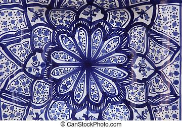 garncarstwo, tunisian, orientalny, barwny