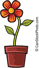 garnek, kwiat