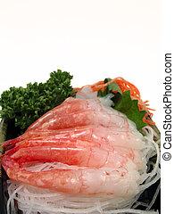 garnele, sashimi
