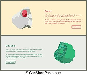 Garnet and Malachite Copper Carbonate Minerals - Garnet and...