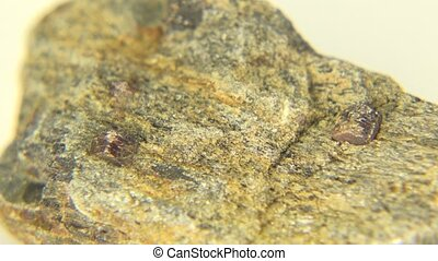 Garnet Close-up Look - This is garnet schist jasper mineral...