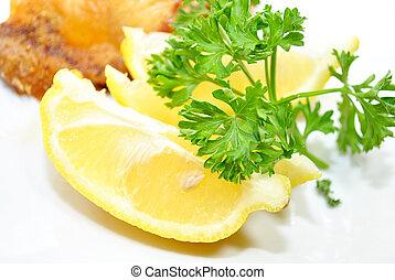 Garnish of Lemon and Parsley