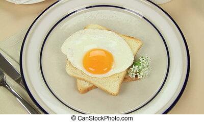 Garnish On Egg And Beans