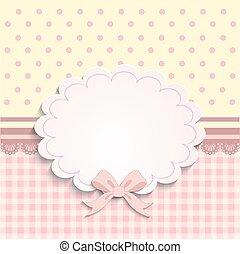 garotinhas, ou, cartão, etiqueta