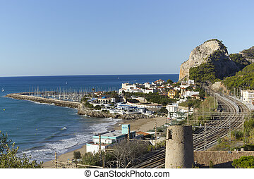 Garraf coastal town - Views of the coastal village of Garraf...