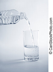 garrafa, água