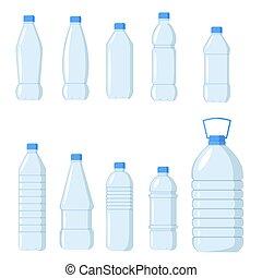 garrafa, água, jogo
