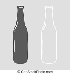 garrafa cerveja, vazio
