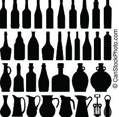 garrafa cerveja, vinho