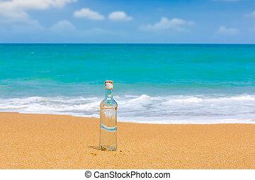 garrafa, praia
