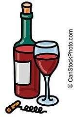 garrafa vermelha, vinho