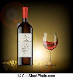 garrafa, vinho tinto