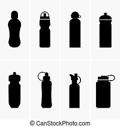 garrafas água, esportes