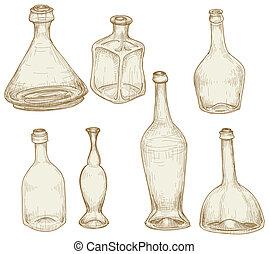 garrafas, desenhos