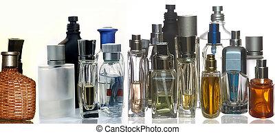 garrafas, fragrância, perfume