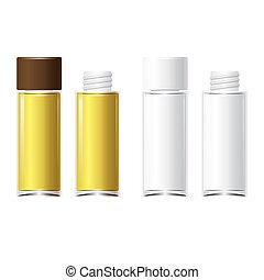 garrafas, isolado, perfume, vidro, vetorial, 4, fundo, branca