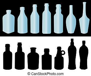 garrafas, líquido