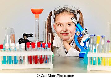garrafas, laboratório