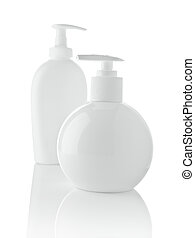 garrafas spray, branca, isolado
