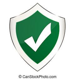 garrapata, verde, protector