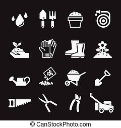 gartenarbeit, ikone