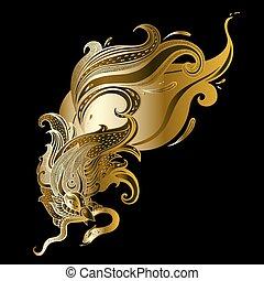 Garuda. Beautiful bird. Vector hand drawn illustration