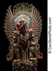 garuda, hindu., statua