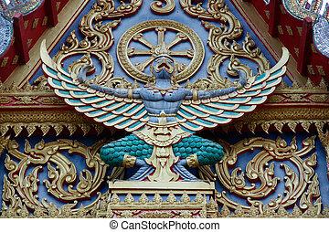 Garuda king at the temple, Thailand