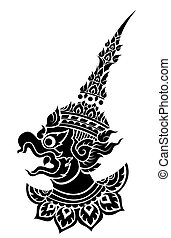 Garuda, King's protective bird vector - Garuda, King's ...
