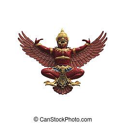 Garuda Phraya isolated on white a background.
