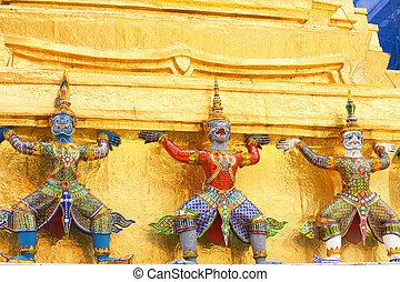 garuda - Garuda of Thai style mold art