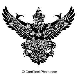 Garuda, King's protective bird vector in eps10
