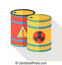 Gas barrel flat icon