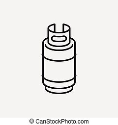 Gas barrel line icon