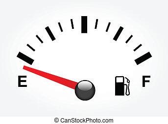 gas, bianco, serbatoio, illustrazione