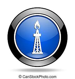 gas blue glossy icon
