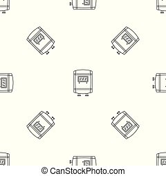 Gas boiler icon. Outline illustration of gas boiler vector icon for web design isolated on white background